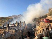 Elazığ'da bir köyde 6 ev yandı
