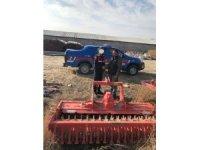 Toprak işleme aletini çalan bir kişi yakalandı