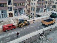 Safranbolu'da asfalt çalışması sürüyor