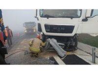 Yoğun sis İstanbul Havalimanı yolunda kazayı beraberinde getirdi