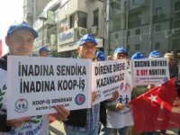 Çok sayıda işçiyi işten çıkartan giyim sektörünün devine protesto