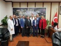 TUK üyeleri Başhekimi Dr. Mahmut Avcı'yı ziyaret etti