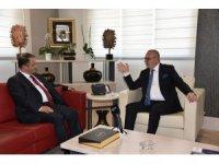 Başkan Ergün, Emniyet Müdürü Uslusoy'u ağırladı