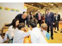İbrahimli spor merkezi, çocukları misafir etti
