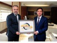 Bursa Büyükşehir Belediye Başkanı Aktaş'tan İhlas Medya Ankara Temsilcisi Yaşar'a ziyaret