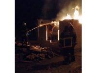 Baraka üzerindeki tahtalar yandı