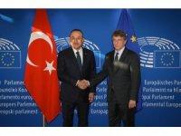 Bakan Çavuşoğlu, AP Başkanı Sassoli ile görüştü