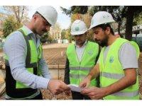 Zeki Cömert Parkı yenileme çalışmaları başladı
