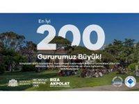 Dünya sıralamasında ilk 200'e giren Boğaziçi Üniversitesi'ne Başkan Akpolat'tan tebrik