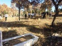 Erkekler mezarlığı temizledi, kadınlar gözleme hayrı yaptı