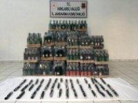 Kırklareli'de 643 litre kaçak içki ele geçirildi