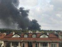 Çekmeköy'de askeri bölgede yangın