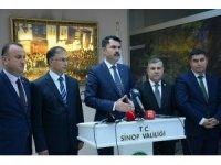 """Bakan Kurum: """"Sinop'u marka şehir haline getireceğiz"""""""