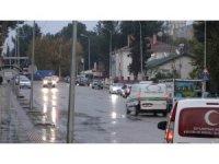 Ceylanpınar'da sağanak yağış