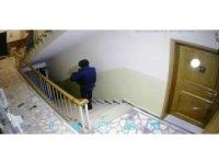 Ayakkabı hırsızlığı güvenlik kamerasına takıldı