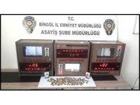 Bingöl'de 10 adet kumar oyun makinesi ele geçirildi