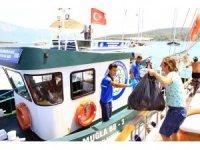 Teknelerden 1 milyon 650 bin kilogram çöp toplandı