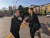 Başkan Hürriyet, Bolu Belediye Başkanı Özcan'ı ağırladı