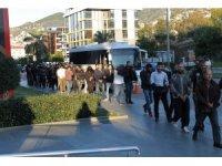 Alanya'da uyuşturucu operasyonuna 16 tutuklama