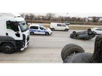 Başkentte kaza güvenlik kamerasına yansıdı
