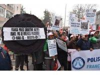HAK - İŞ'ten Fransa Büyükelçiliği önünde eylem