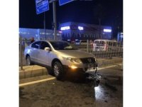 Kuşadası'nda alkollü sürücü kaza yaptı