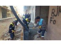 Didim'de üretilen ilk beton Sevgi Sokak'ta kullanılmaya başladı