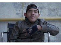 Engelli genç hayalini kurduğu klibi çekti