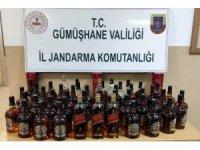 Gümüşhane'de 46 şişe kaçak ve sahte alkol ele geçirildi
