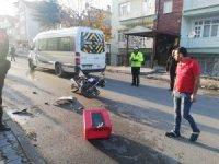 Isparta'da okul taşıtının çarptığı motosikletin yabancı uyruklu sürücüsü öldü
