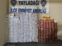 Yayladağı'nda 3 bin 760 paket kaçak sigara ele geçirildi