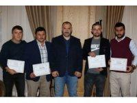 Kocaeli İtfayesi'nden eğitim alan 20 itfaiyeci sertifikalarını aldı