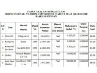 Binali Yıldırım Üniversitesi'nin eski araçları satışa çıkarılıyor