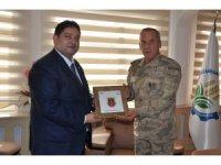 Jandarma Bölge Komutanı Tuğgenaral Okyar'dan ETB Başkanı Oral'a ziyaret
