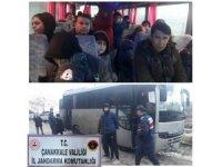 Çanakkale 50 mülteci yakalandı
