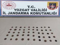 Yozgat'ta 50 adet sikke ele geçirildi