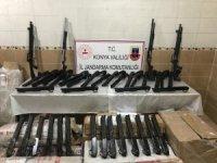 Kargo aracında kaçak üretim 173 tüfek bulundu