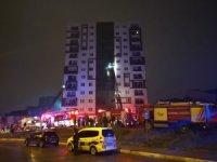 Ümraniye'de 12 katlı binanın trafosunda çıkan yangın paniğe neden oldu