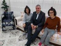 Başkan Turanlı'dan engelli kardeşlere sürpriz ziyaret