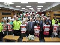 Kahramanmaraş'ta 74 okul geçit görevlisine belgeleri dağıtıldı
