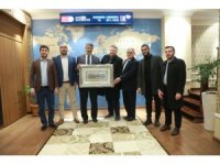 Rektör Polat, Filistinli heyeti kabul etti