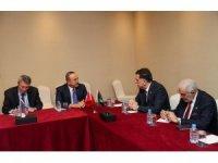 Bakan Çavuşoğlu, Libya Başkanlık Konseyi Başkanı El-Sarraj ile görüştü