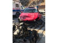 Artvin'de meydana gelen trafik kazasında 1 kişi öldü 2 kişi yaralandı