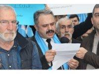 Samsun'da STK'lardan Çin'e 'Doğu Türkistan' tepkisi