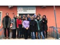 Eğitim gönüllüleri köy okulunda kütüphane kurdu