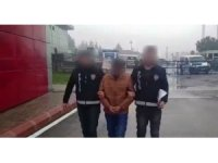 Yankesici önce kameraya ardından polise yakalandı