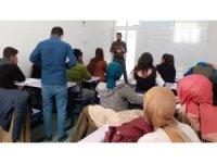 Saray'daki kurslara yoğun ilgi