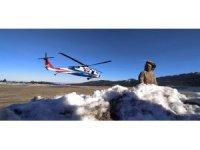 Uludağ'da 50 kişilik özel tim, helikopterle arama kurtarma çalışmalarına katıldı