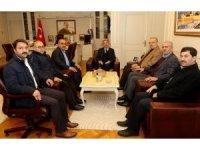 AİÇÜ Rektörü Prof. Dr. Karabulut, Diyanet-Sen Genel Başkanı Mehmet Bayraktutar'ı misafir etti