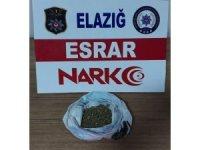 Elazığ'da uyuşturucu ile mücadele: 1 tutuklama